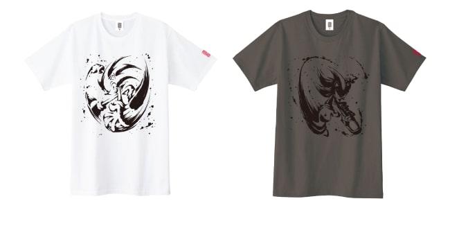 「墨絵 超音速針鼠」Tシャツ