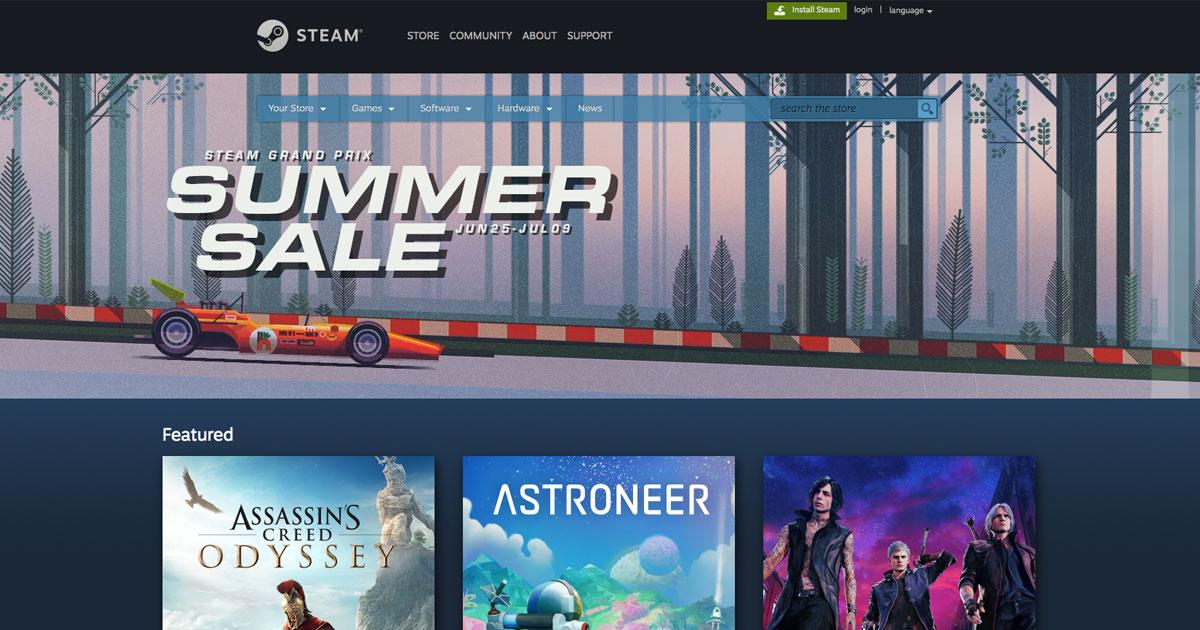 今次可以沉醉在PC遊戲!「Steam Grand Prix Summer Sale」現正舉行!