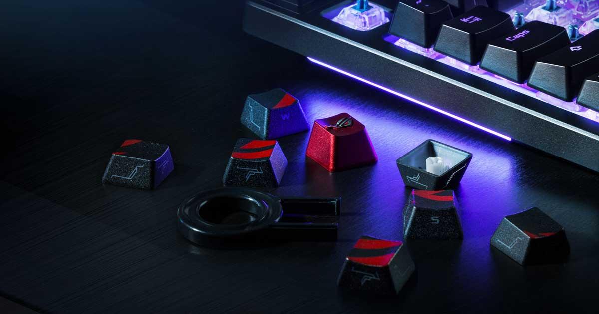 PCゲーマー必見!ASUSがスタイリッシュキーキャップセット「ROG Gaming Keycap Set」発売開始!