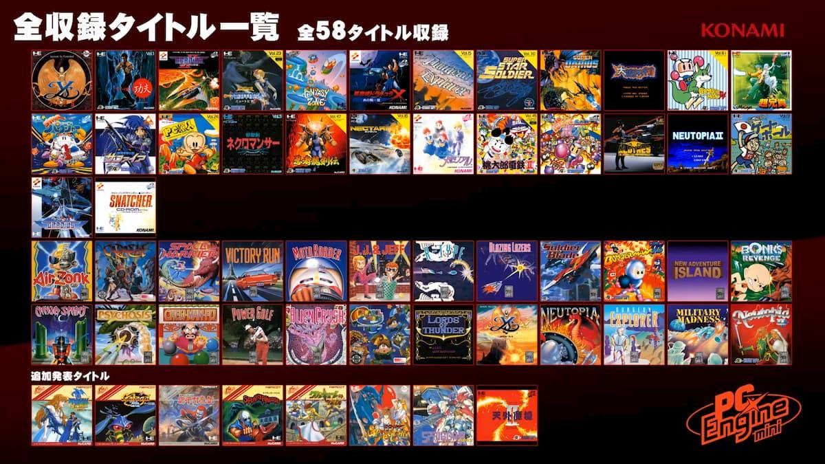 「PCエンジン mini」に収録タイトルが追加!「天外魔境II 卍MARU」「ワルキューレの伝説」など発表!全58タイトルに!