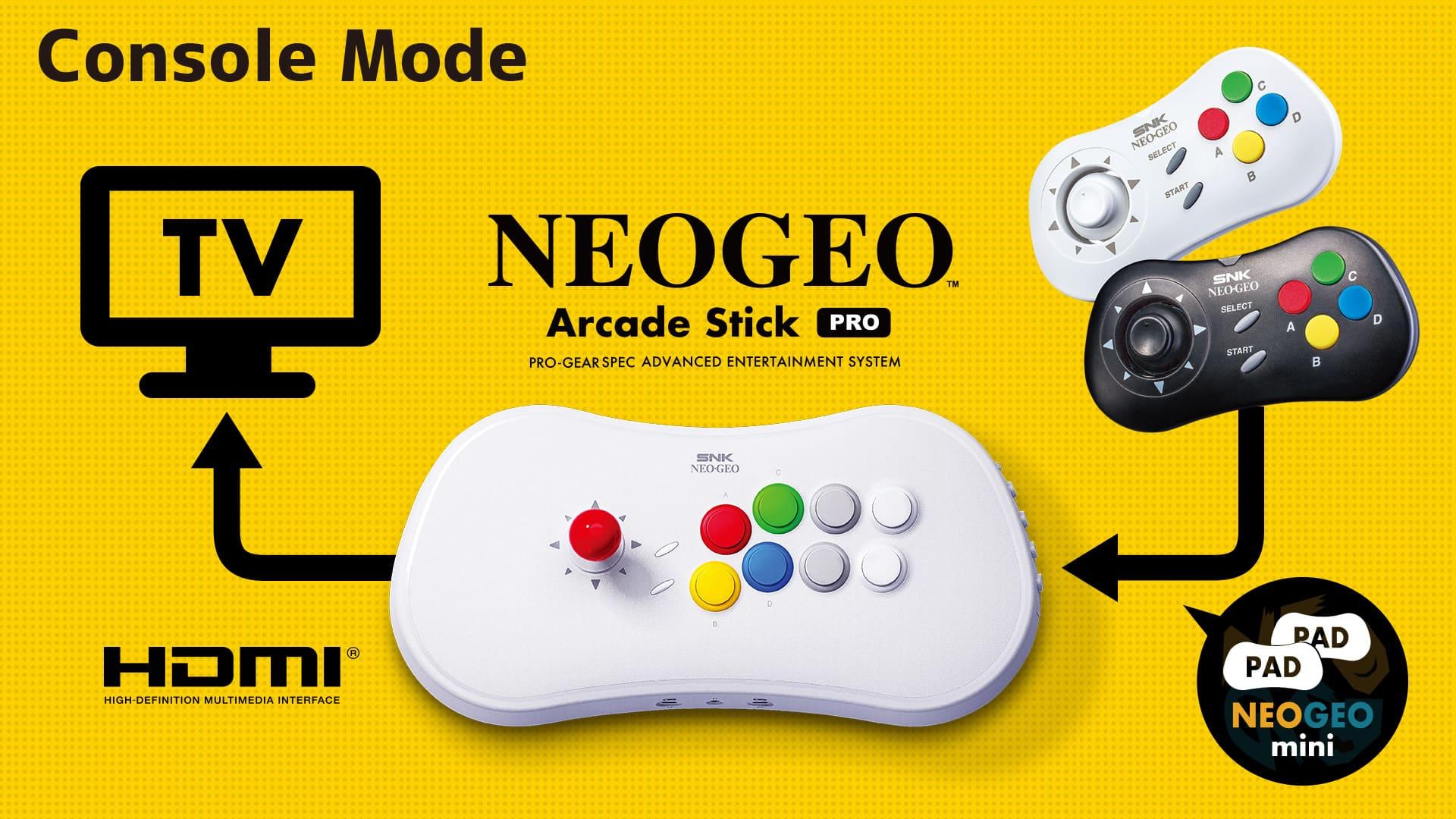 NEOGEO Arcade Stick Pro Console Mode