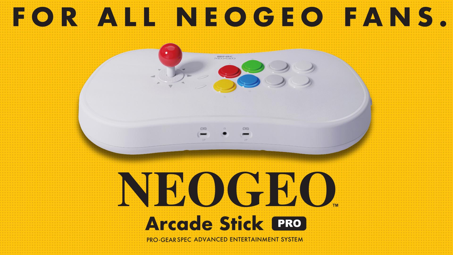 「NEOGEO Arcade Stick Pro」追加情報発表!仕様や収録タイトルが明らかに!