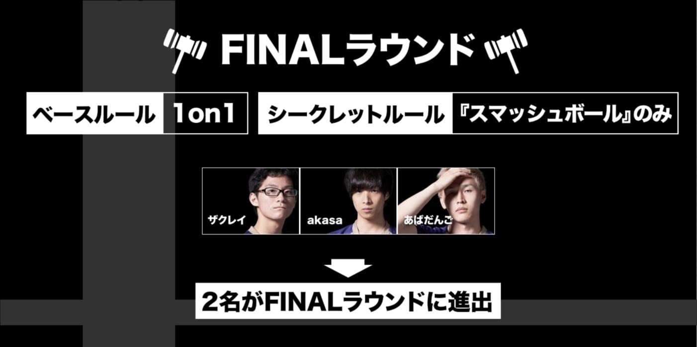 スマッシュボール杯 スマブラSP 西日本リーグFINALラウンドルール
