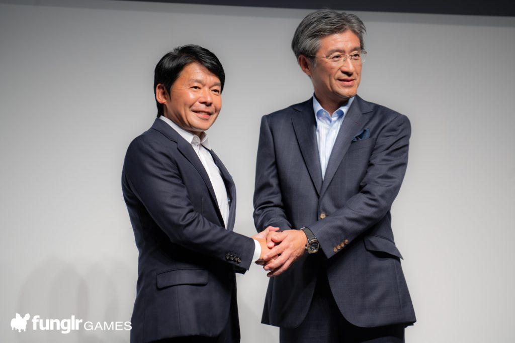 Capcom President Tsujimoto Haruihiro and President of Intel Japan Suzuki Kunimasa