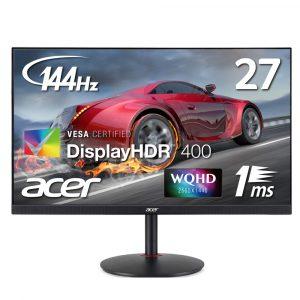 AcerゲーミングモニターXV272UPbmiiprzx 27インチ IPS 非光沢 2560x1440 1ms 144Hz