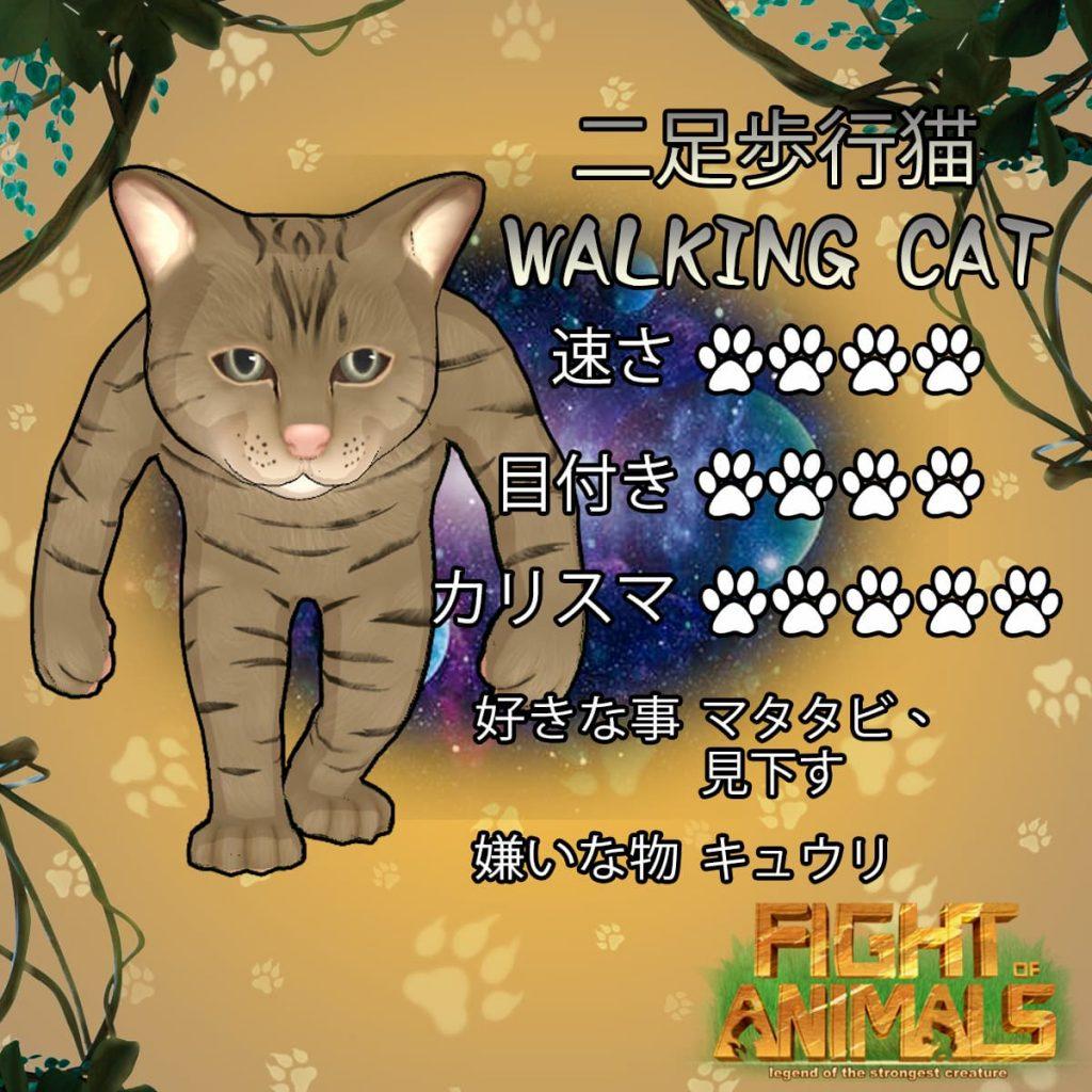 二足歩行猫