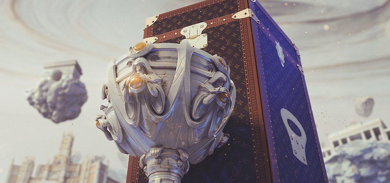 Louis Vuitton製の優勝カップ専用トラベルケース