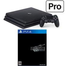 PlayStation 4 Pro + ファイナルファンタジーVII リメイク セット (ジェット・ブラック)