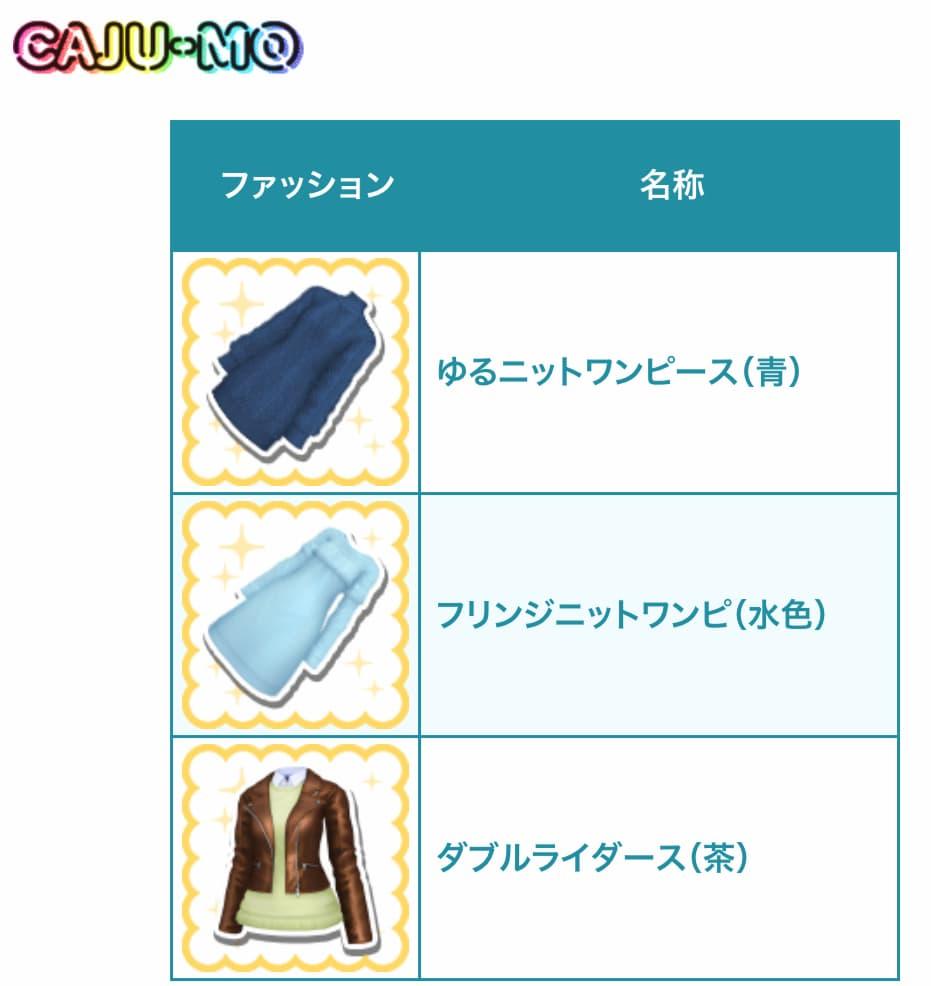 冬の新作ファッション「CAJU-MO」