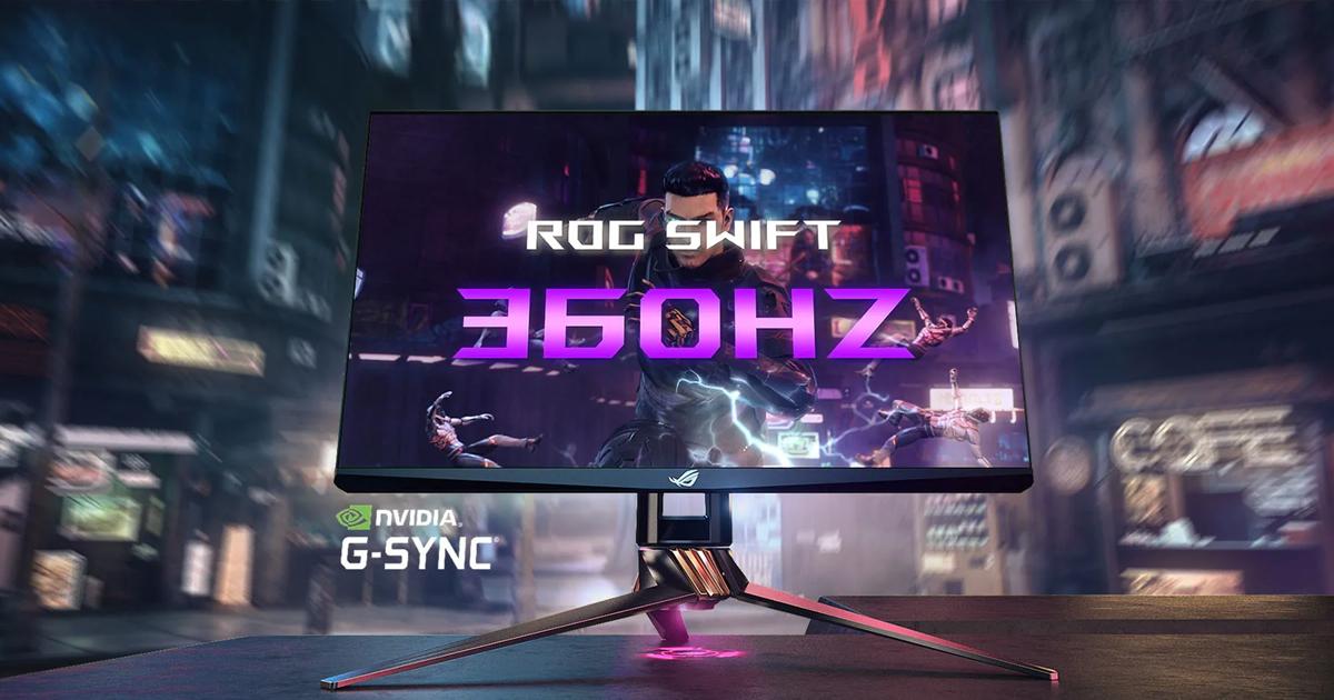 NVIDIAとROGが共同開発した360Hzリフレッシュレートのゲーミングモニター「ASUS ROG Swift 360」を発表