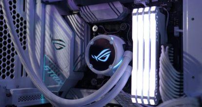 ただ光るだけでじゃない!「Aura Sync」対応の液冷ユニット「ROG Strix LC 240/360 RGB White Edition」発表!