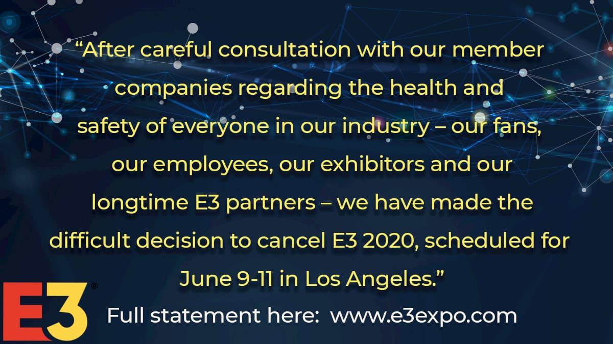 E3 2020 中止発表