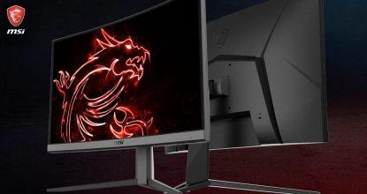 MSIが湾曲パネルのゲーミングモニター「Optix G24C4」「Optix G27C4」を発表!