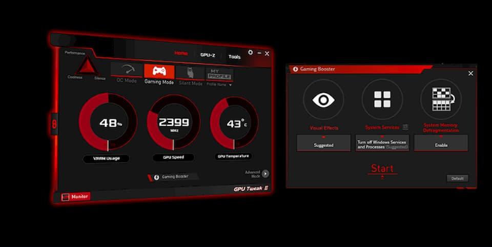 ASUS GPU Tweak IIユーティリティ