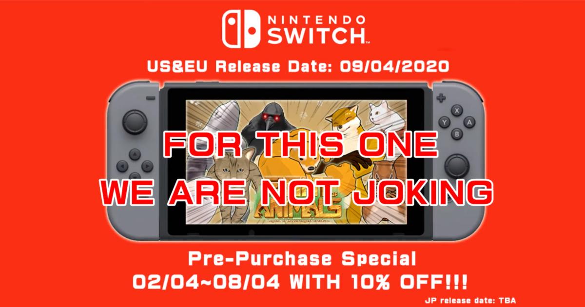 Nintendo Switch版「Fight of Animals」の北米・欧州での発売日が決定!