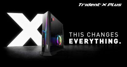 RGB LED搭載で部屋が華やかに!MSI最小クラスのゲーミングデスクトップ「Trident X Plus 9SD-831JP」発売