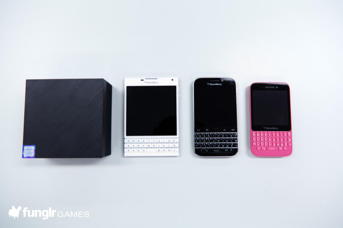 BlackBerryとサイズ比較