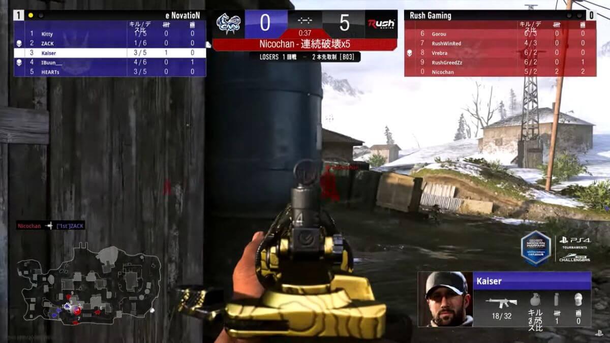 e NovatioN VS Rush Gaming