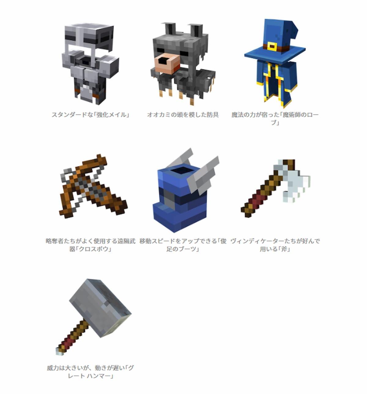 Minecraft Dungeons 裝備