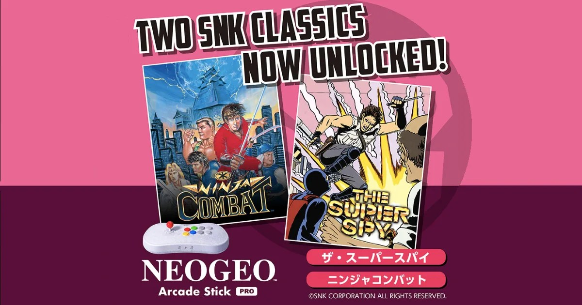 「NEOGEO Arcade Stick Pro」で新たなタイトルがアンロック!名作アクションをプレイ!