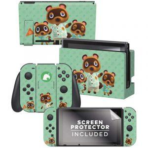 Controller Gear / animal crossing (たぬきち) / あつまれ どうぶつの森 海外限定品 公式ライセンス品 / Nintendo Switch用 ドックスキン シール