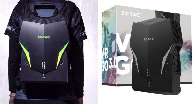 「背負えるPC」なZOTACのバックパック型PCがアップグレード版「VR GO 3.0」発表!