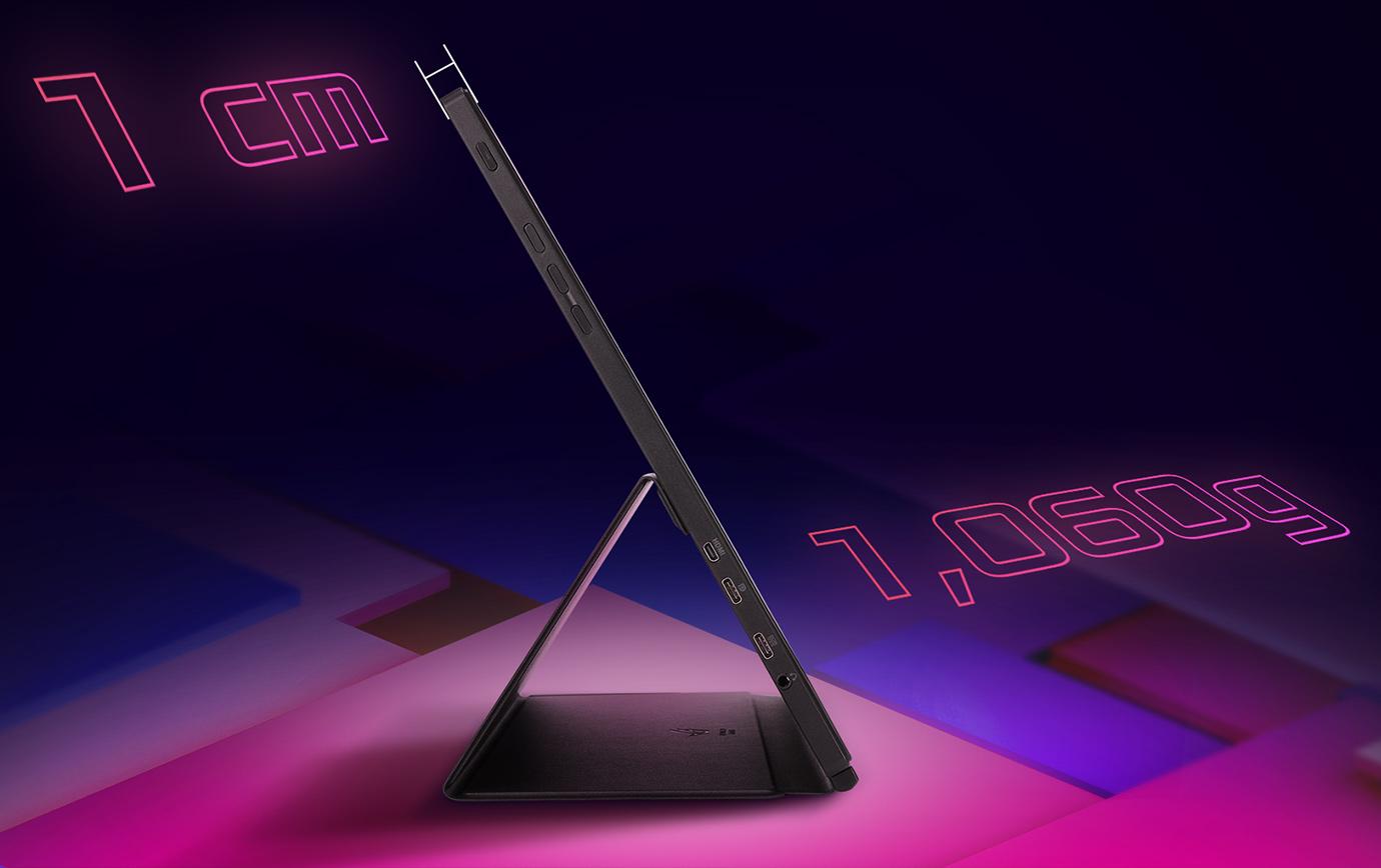 1cm,1060gの超軽量デザイン