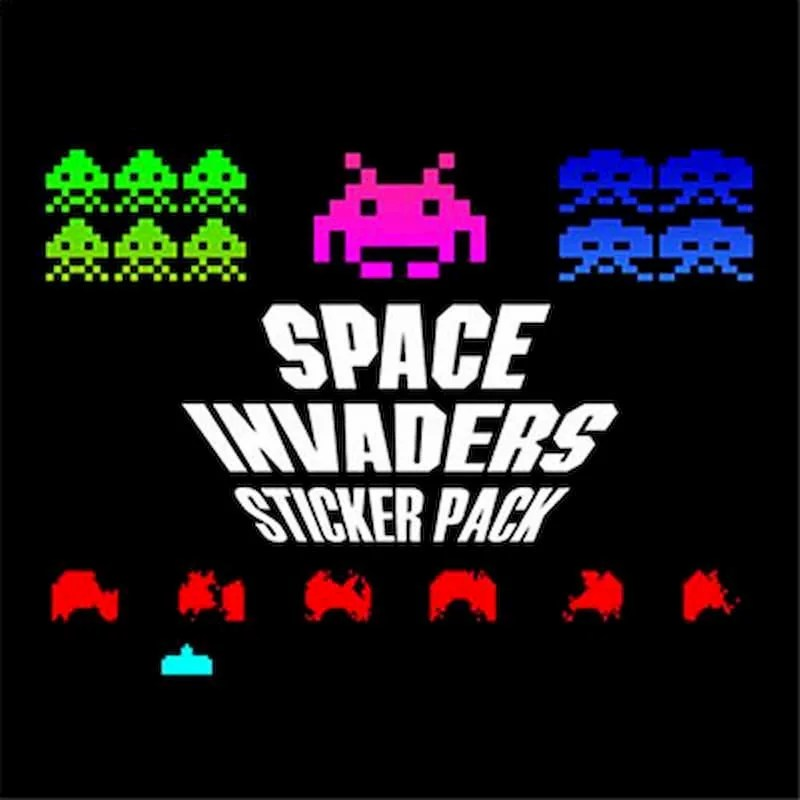 Space Invaders Sticker Pack