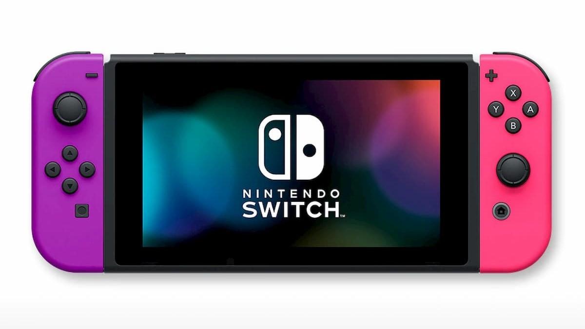 『Nintendo Switch』(Joy-Con(L)ネオンピンク/(R)ネオンブルー+ストラップ ブラック2本)