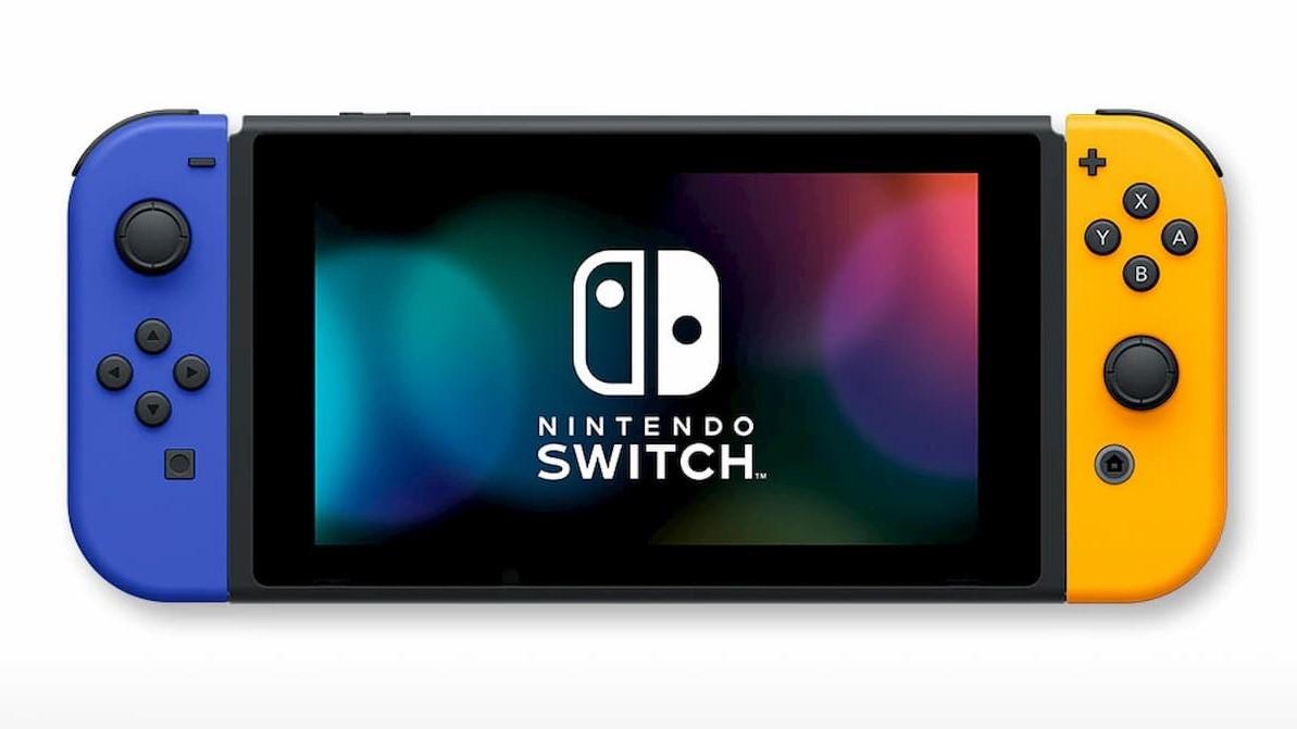 『Nintendo Switch』(Joy-Con(L)ネオンオレンジ/(R)ネオングリーン+ストラップ ブラック2本)