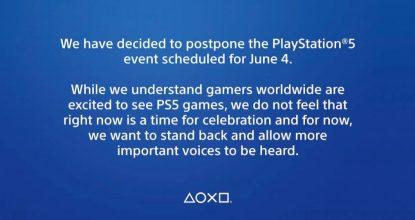 日本時間6月5日配信予定だったPlayStation 5に関する映像イベントの延期を発表