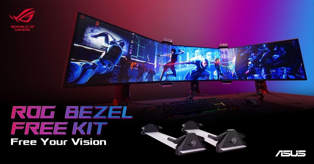 マルチディスプレイをウルトラワイドに!「ROG Bezel Free Kit ABF01」を発表