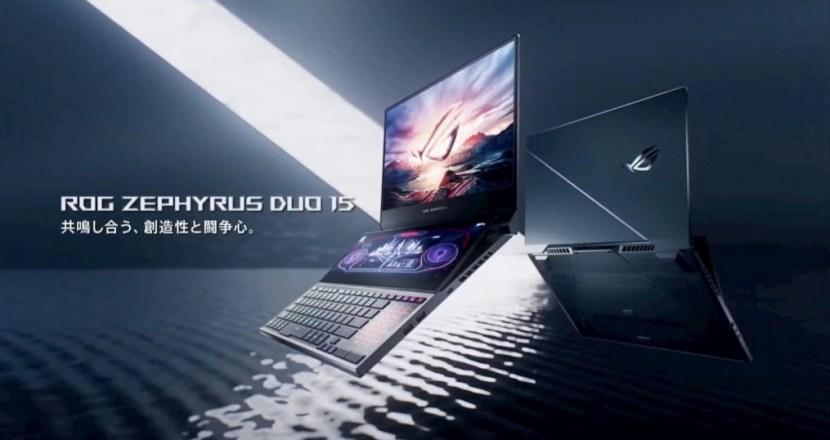 ASUSのデュアルディスプレイノートパソコンがゲーミングに進化!「ROG Zephyrus Duo 15 GX550LXS」発表!