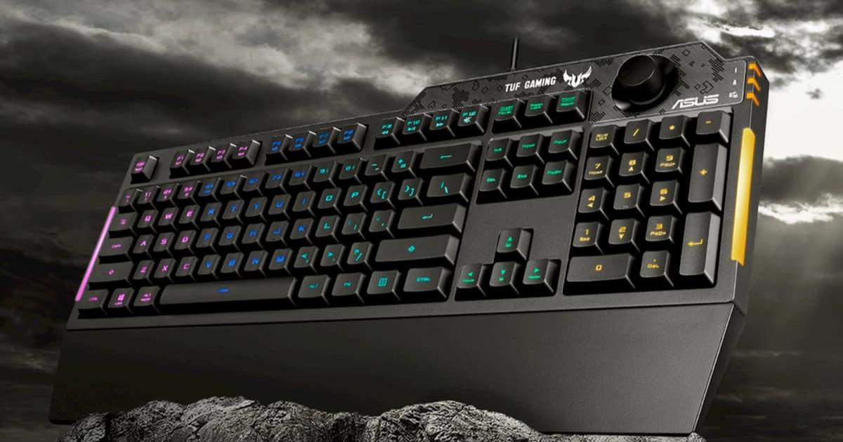 直感的にボリューム調整が出来る耐水性にも優れたゲーミングキーボード ASUS「TUF Gaming K1」発表