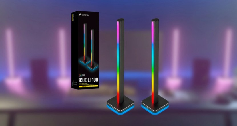 光が足りないなら光る棒を置け!CORSAIR「iCUE LT100 Smart Lighting Towers」発表!