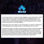 「EVO Online」の開催中止が決定