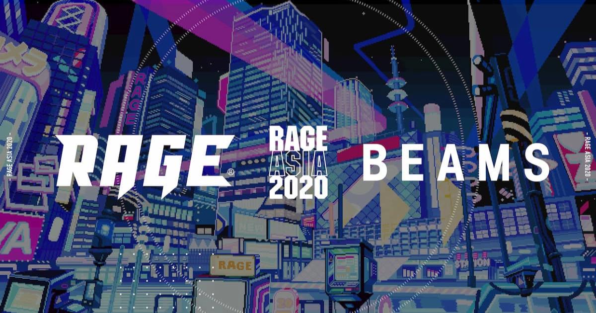 「RAGE ASIA 2020」がBEAMSとコラボ!オフィシャルTシャツ発売決定!