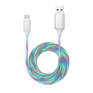 USB Type-C 光るケーブル LED発光ケーブル