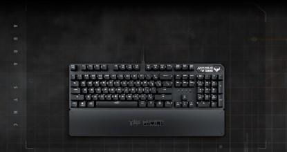 USBパススルー搭載の耐久性に優れたゲーミングキーボード「TUF Gaming K3」発表
