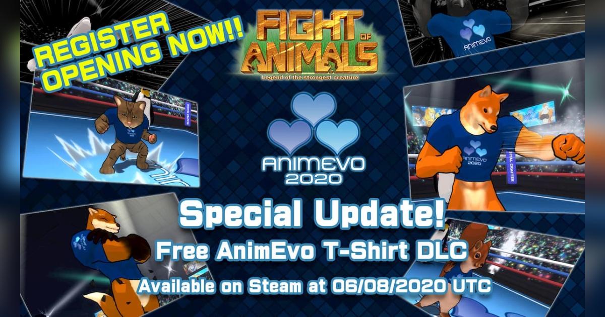 Fight of Animalsで新スキン「AnimEvo T-Shirt」が登場!なんと無料!