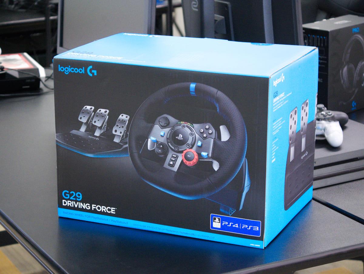 「Logicool G29 Driving Forceステアリングホイール&ペダル」の外箱
