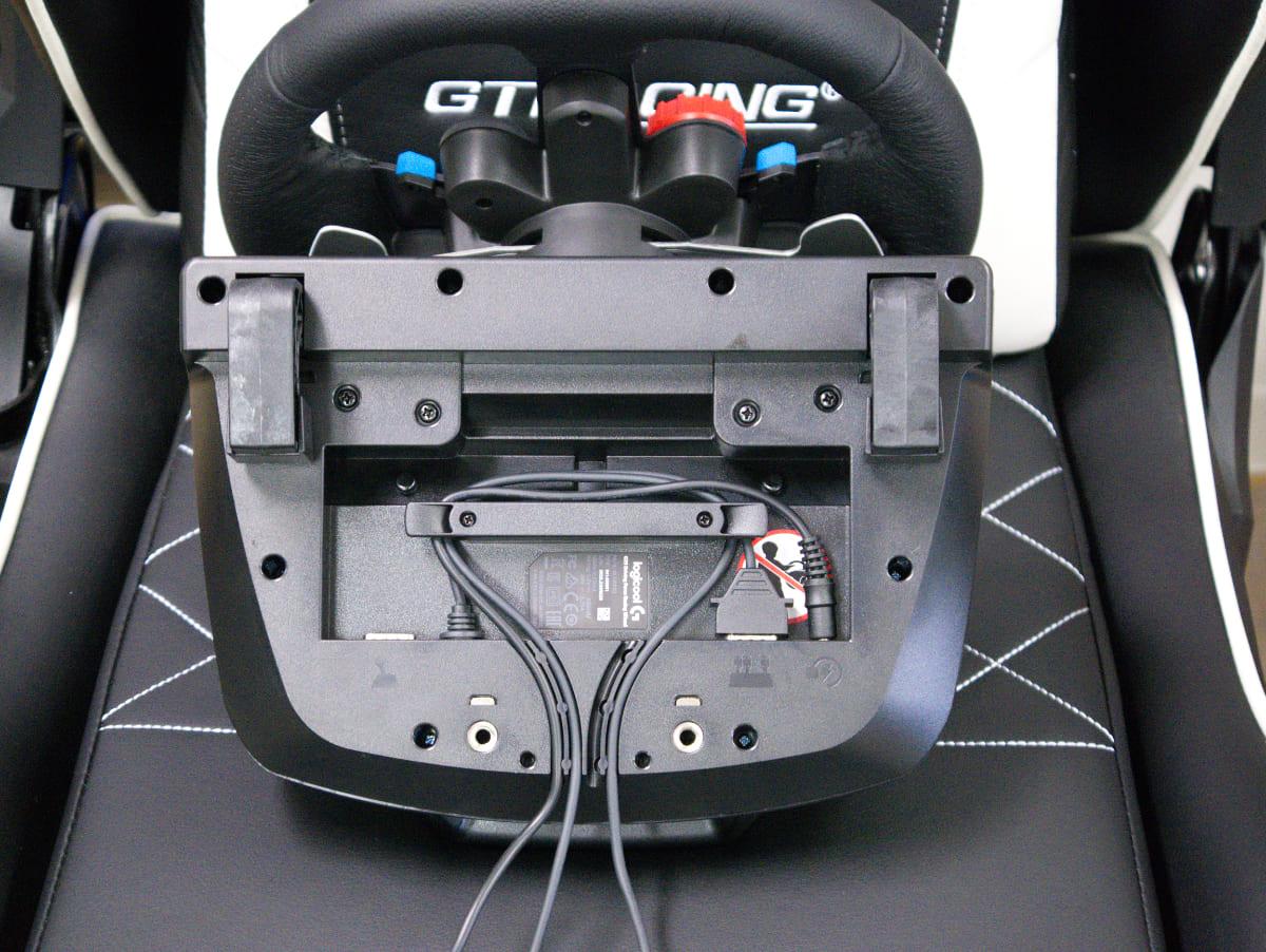 「Logicool G29 Driving Forceステアリングホイール&ペダル」の本体底面