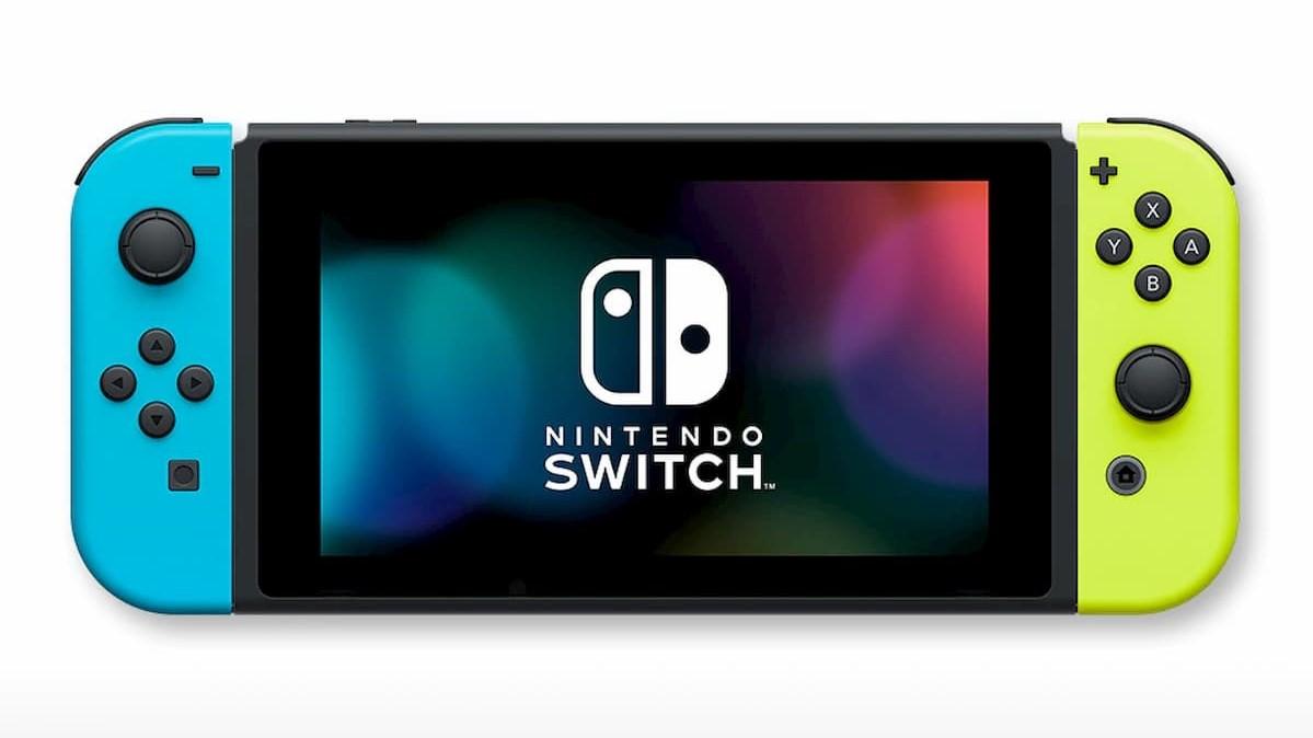 「Nintendo Switch」(Joy-Con(L)ネオンブルー/(R)ネオンイエロー+ストラップ ブラック2本)