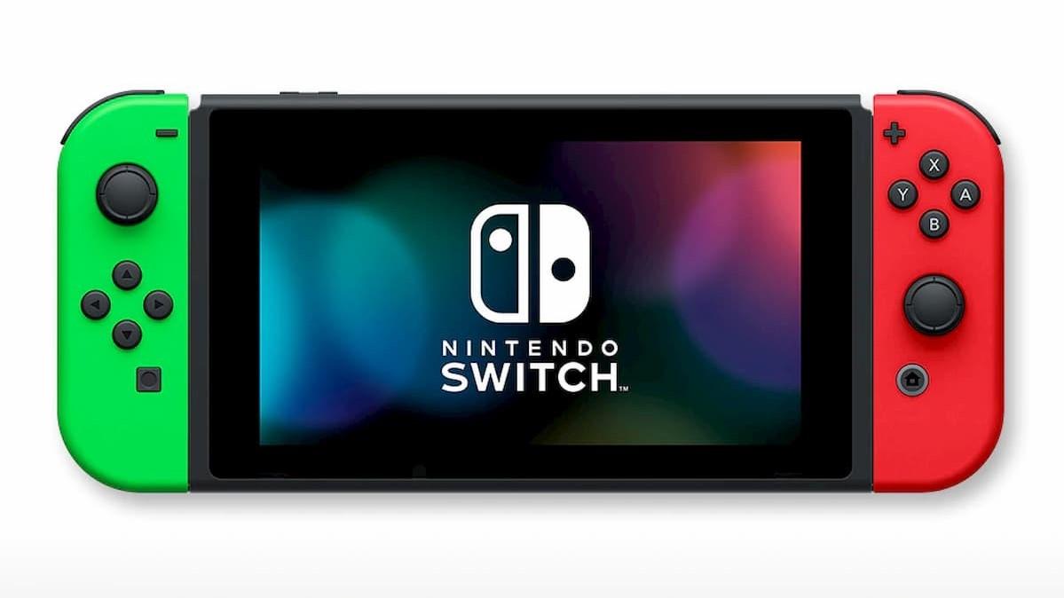 「Nintendo Switch」(Joy-Con(L)ネオングリーン/(R)レッド+ストラップ ブラック2本)