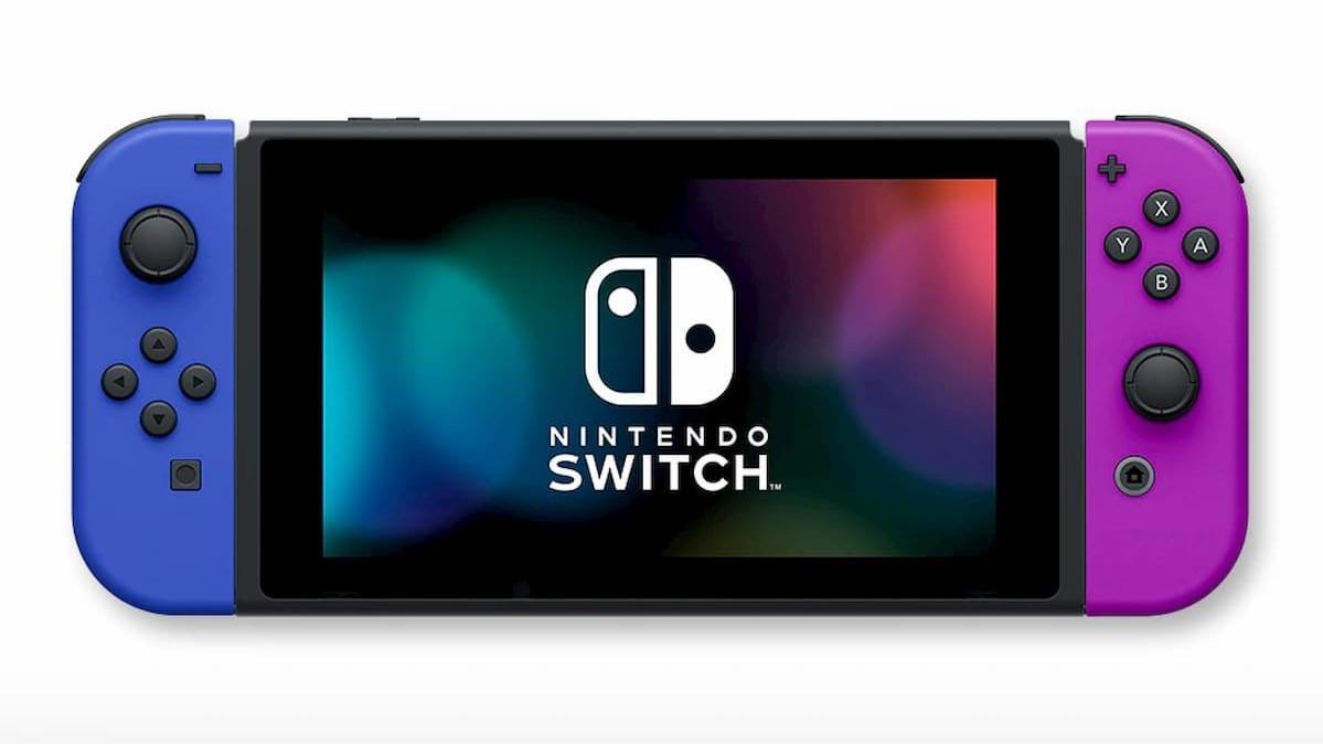 「Nintendo Switch」(Joy-Con(L)ブルー/(R)ネオンパープル+ストラップ ブラック2本)