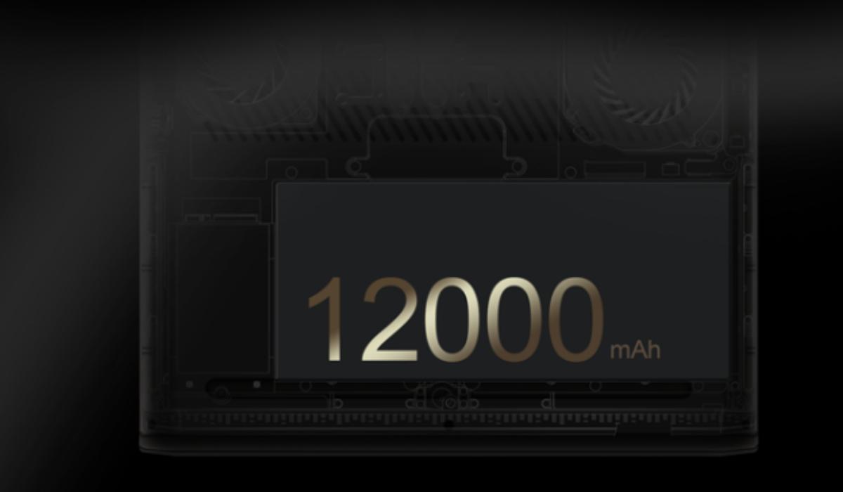 12000mAh(3.7V)大容量バッテリー