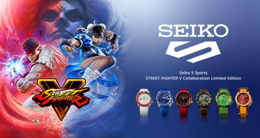 「セイコー」と「ストV」のコラボ!キャラクターモチーフの腕時計全6モデルが「<セイコー 5スポーツ>ストリートファイターV コラボレーション限定モデル」として登場!!