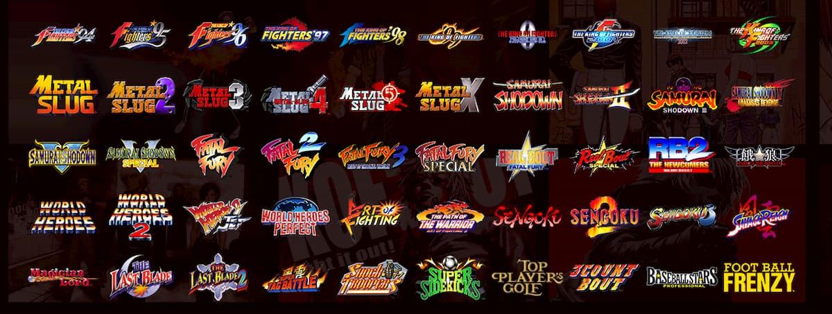 SNK NEOGEO MVSX Home Arcade収録タイトル