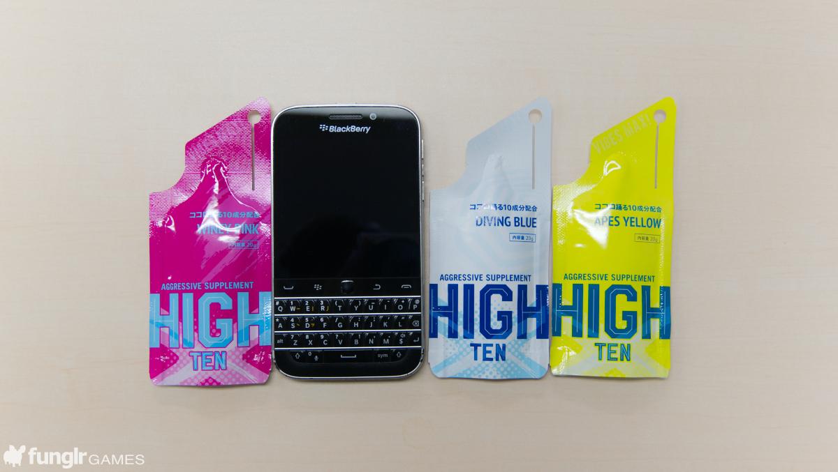 BlackBerry Classicとだいたい一緒