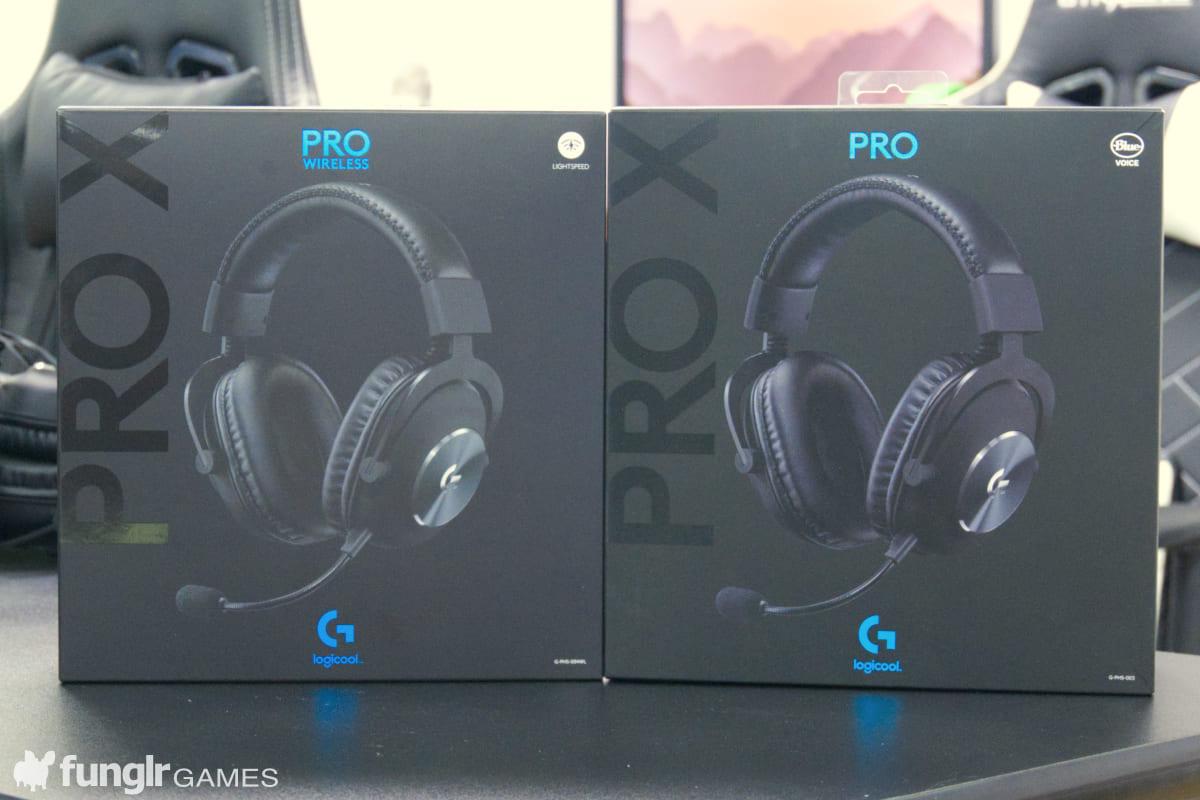「PRO X」與「PRO X Wireless」的包裝